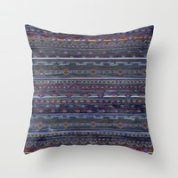 VINTAGE TRIBAL PATTERN Throw Pillow by Nika