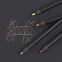 set of 4 neon pencils