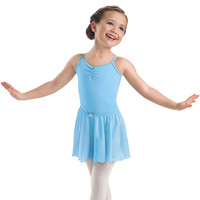 Girls' Basic Crepe Elastic Waist Ballet Skirt; Bal