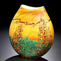 Sedona Vase: John &amp; Heather Fields: Art Glass Vase - Artful Home