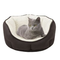 "Soft Touch Euro Cuddler Oval Pet Bed - 19"" x 16"""