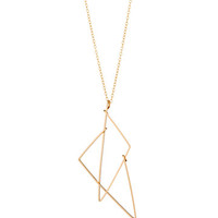 Split Triangle Necklace