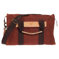 WILL Leather Goods: Waxed Canvas Duffle Rust