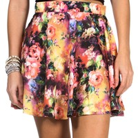 Multi-Color Skater Skirt