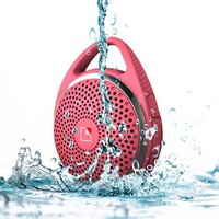 SoundDew Wireless Water resistant Bluetooth Speaker Bath & Shower Speaker Mic Hands_Free Phone Calls Pink