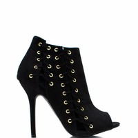 Lace-Up-Corset-Booties BLACK WINE - GoJane.com