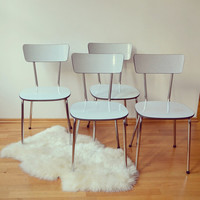 4 x kitchen chairs 1960s 70s