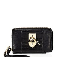 Robertson Leather Tech Wristlet
