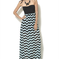 Sweatheart 2fer Maxi Dress - WetSeal