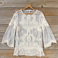 December Lace Blouse in Cream