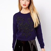 ASOS Jumper With Brocade Embellishment