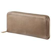 Merona® Solid Zip Around Wallet - Brown