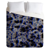 Caleb Troy Tossed Boulders Blue Duvet Cover