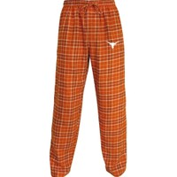 College Concepts Men's Texas Longhorns Burnt Orange/White Roster Flannel Pants