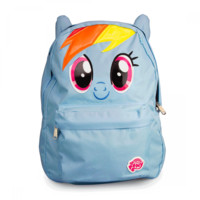 Be the toast of Ponyville with a My Little Pony backpack from Loungefly! This ultra cute printed nylon Rainbow Dash backpack features 3D ears!