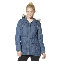 Mossimo Supply Co. Junior's Hooded Jacket -Blue