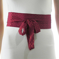 Magenta Sash Belt Obi Waist Cincher - Gold Circle Sash Belt Obi Waist Cincher - Sashes for Weddings Evening Cocktail Formal Party