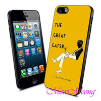 Book Cover Art Great Gatsby - iPhone Case - iPhone 4 iPhone 4s - iphone 5 - Samsung S3 - Samsung S4