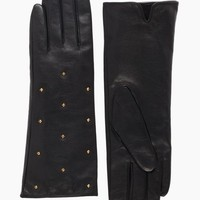 long studded gloves