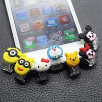 "Backgarden"" Home Cute Animal Data Jack Anti Dust Plug + Home Button Sticker for Iphone 5 Apple 5c / Ipad4 / Ipad Mini (7 Stickers in 1)"