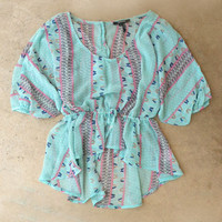 Backroads Blouse in Mint [4127] - $19.20 : Vintage Inspired Clothing & Affordable Dresses, deloom | Modern. Vintage. Crafted.