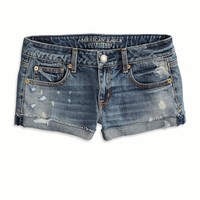 AE BLEACHED DENIM SHORTIE