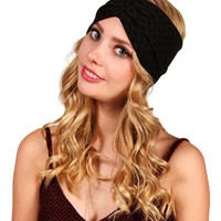 Diamond Print Black Turban