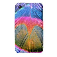 Peacock Feather in Pink iPhone 3G/3GS Case