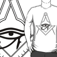 Illuminati Eye Masonic Compass Symbol