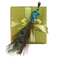 Sequined Peacock | Holiday Decor | Accessories | Decor | Z Gallerie