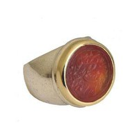 18k bezel signatory ring | Dafna Dagan
