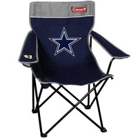 Coleman Dallas Cowboys Navy Blue-Gray Quad Folding Chair