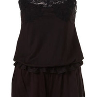 Black Jersey Lace Trim Cami And Shorts Set - Nightwear - Lingerie & Nightwear - Clothing - Topshop USA