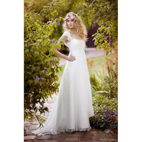Petal Sleeve Sweetheart A-Line Wedding Dress