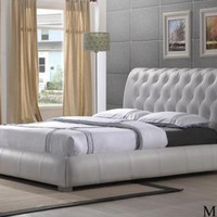 Luxurious Elegant Faux Leather Bed