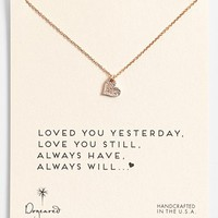 Dogeared 'Love - Sparkle Heart' Boxed Pendant Necklace | Nordstrom