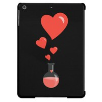 Black Flask Of Hearts Geek Valentine's Day iPad Air Cases