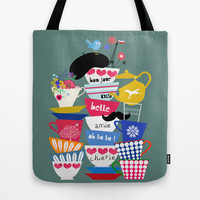 bon jour Tote Bag by Elisandra