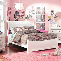 Oberon White 6 Pc Twin Sleigh Bedroom