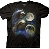 Three Wolf Moon Shirt Parody - Three Sloth Moon Shirt - 100% Cotton Adult T-Shirt Tee