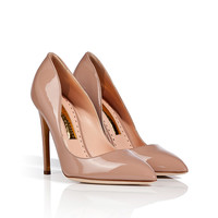 Rupert Sanderson - Patent Leather Elba Pointed Toe Pumps