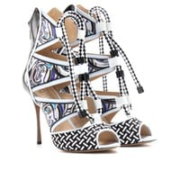 PRINT PATENT LEATHER STILETTOS