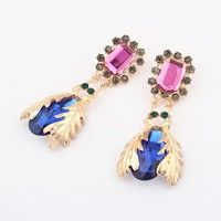 Treasure Gemed Beetles Statement Earrings