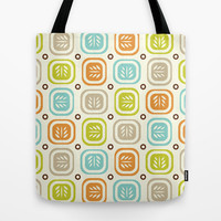 Leaf Line Tote Bag by Heather Dutton