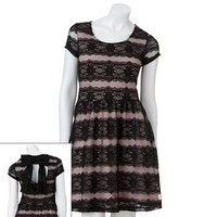 Candie's® Striped Lace Dress - Juniors
