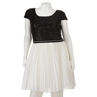 Trixxi Sequin Pleated Dress - Juniors' Plus