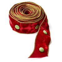 "3"" Velvet Ribbon, Green/Red"