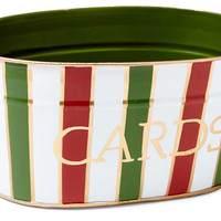 Christmas Stripe Card Tub