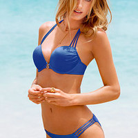 Strappy Add-2-Cups Push-Up Halter Top - Bombshell Swim Tops - Victoria's Secret