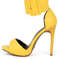 Shoe Republic Genna Ankle Cuff Heels | MakeMeChic.com
